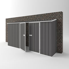 Off The Wall Garden Shed in Slate Grey