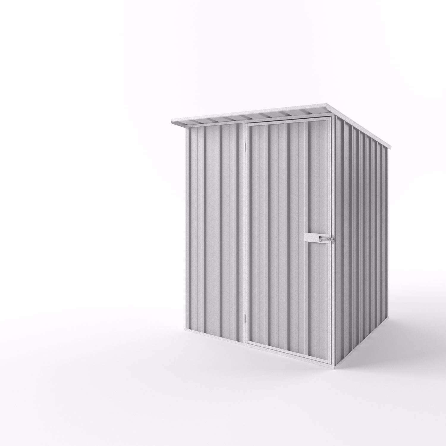 Skillion Garden Shed - 1.50m x 1.50m x 2.10m Height - Wide Span Sheds