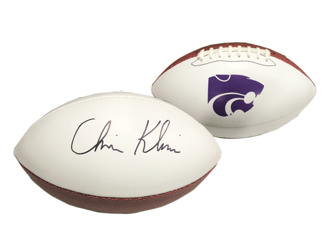 Chris Klieman, K-State Wildcats, Autographed Football
