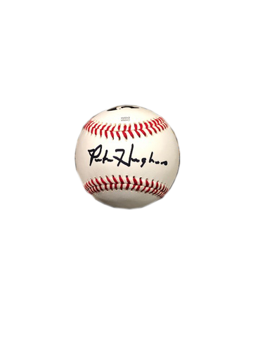 Pete Hughes, K-State Autographed Baseball
