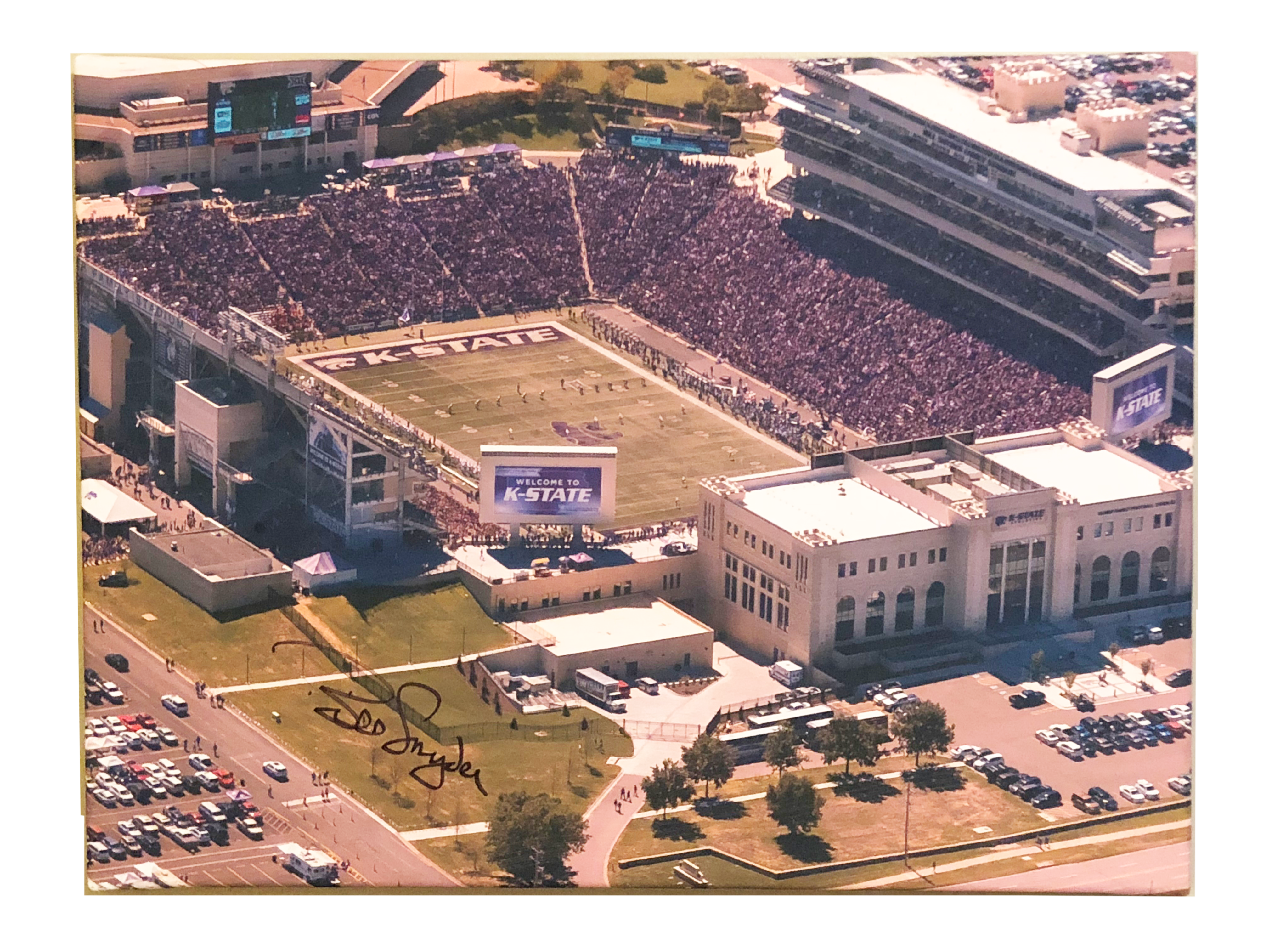 Autographed Bill Snyder Family Stadium Canvas Framed