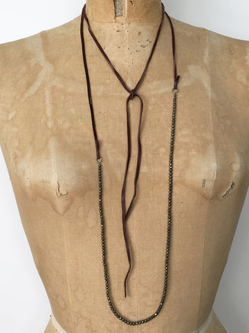 Alicia Van Fleteren, Necklace - Garnet Topaz