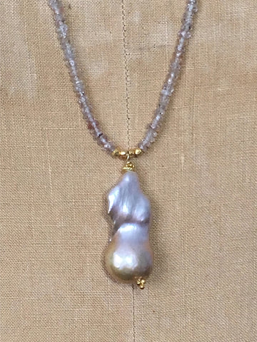 Alicia Van Fleteren, Necklace - Pearl Zircon