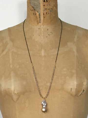 Alicia Van Fleteren, Necklace - Blue Quartz Tear Drop