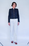 Atelier Francesca Navy Blue Military Jacket Styling Op