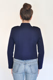 Back View of Atelier Francesca Navy Blue Military Style Jacket