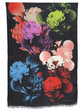 Jonathan Sounder Scarf, Bouquet multi colored on black ground