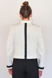 Black Grosgrain Ribbon down Back of Atelier Francesca Jacket