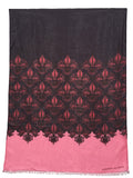 Jonathan Sounder Scarf, Diamond, bright pink and black