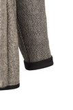 Atelier Francesca Black & White Herringbone Knit Wrap Sleeve Detail