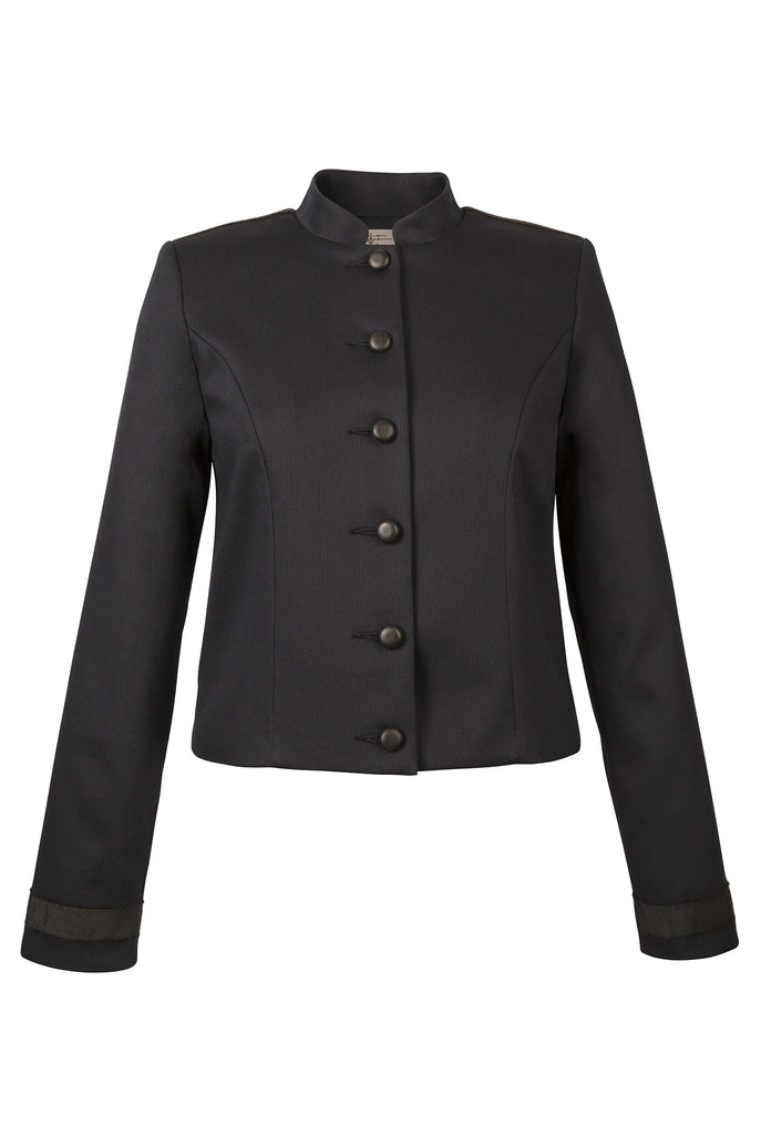 Atelier Francesca Navy & Black Classic Style Jacket with Graphic Details