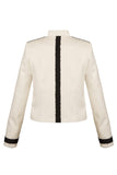 Reverse of Atelier Francesca White Jacket with Black Graphic Details