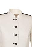 Atelier Francesca White & Black Classic Style Jacket with Graphic Details