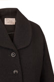 Atelier Francesca Black Shrug collar and button details