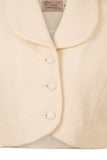 Atelier Francesca Winter White Shrug button details