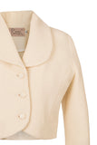 Atelier Francesca Winter White Shrug collar and button details