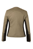 Atelier Francesca Moto Style Jacket reverse in Army with Black contrast details