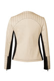 Atelier Francesca Moto Style Jacket reverse in Khaki with Black contrast details