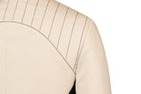 Back detail of Atelier Francesca Moto Style Jacket in Khaki