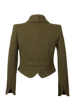 Back view Atelier Francesca Army Green Statement Jacket. Shawl collar.