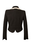 Back View of Atelier Francesca Black Jacket shows back & sleeve detail.