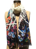 Jonathan Sounder Scarf, Garden, multi colored floral