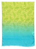 Jonathan Sounder Scarf in Turq & Lime
