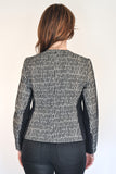 Back View of Black & White Atelier Francesca Moto Jacket