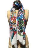 Jonathan Sounder Scarf, Sakura, multi colored