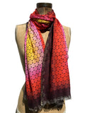 Jonathan Sounder Scarf, Summer, sunset colors.
