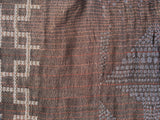 Detail of Letol Victor Scarf, wine, rust, warm grey, black