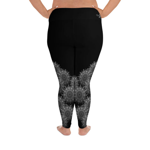 Alchemy Rising, Lacy Mandala Leggings Plus – Soft Black
