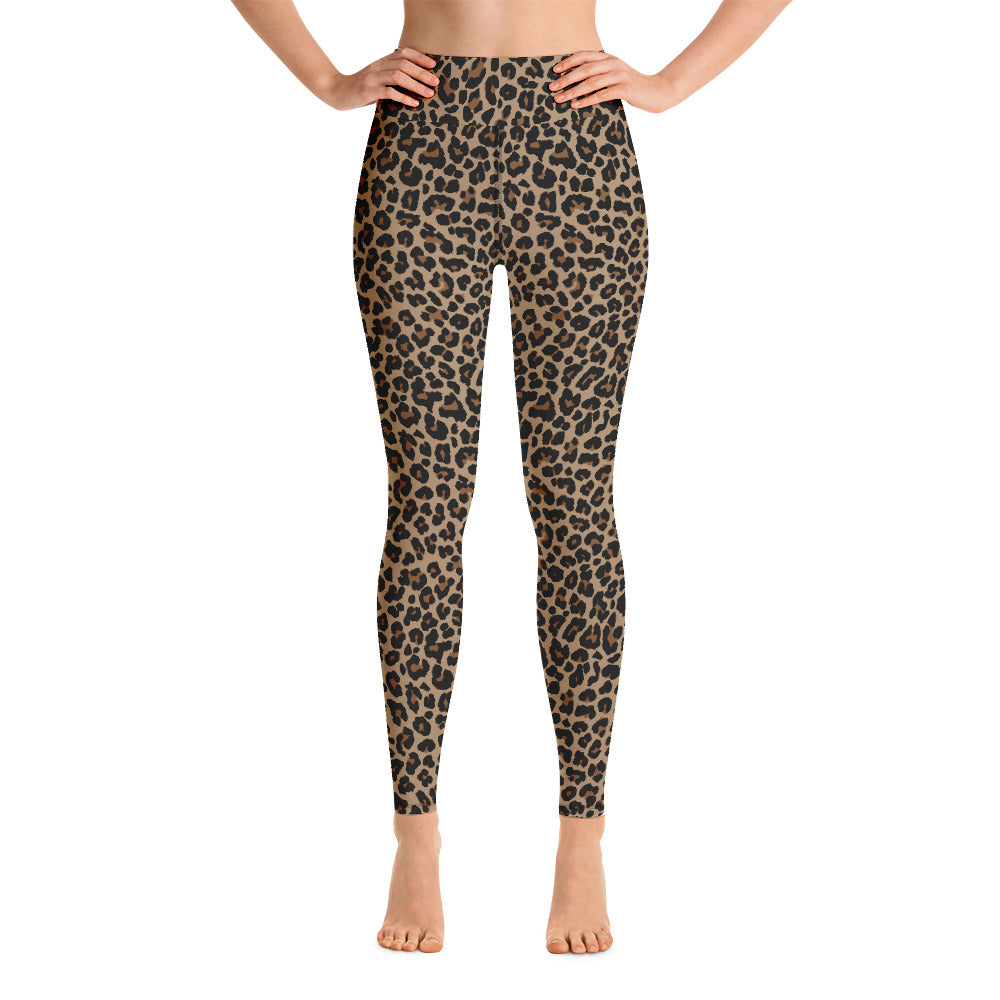 Mocha Leopard print leggings. Print on demand