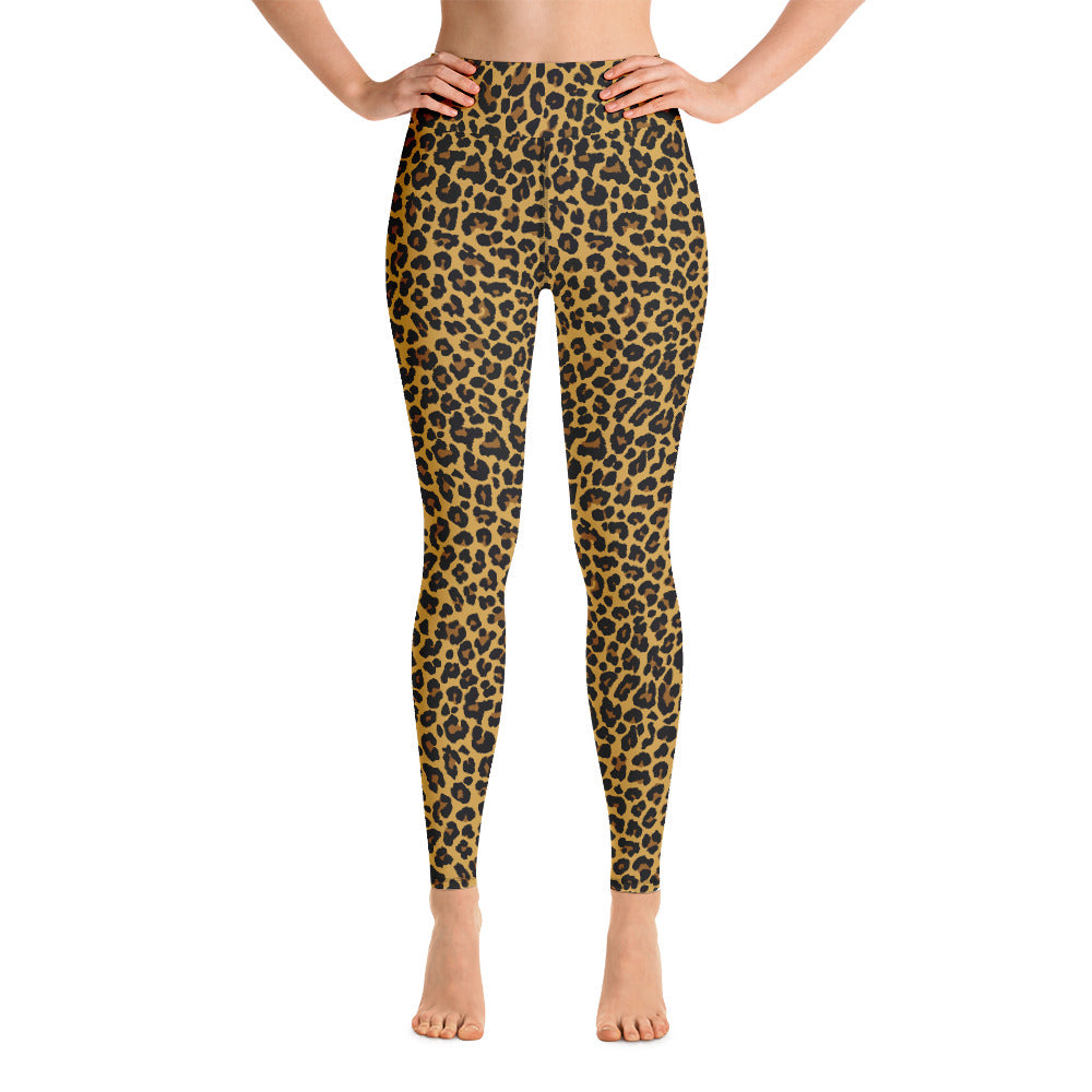 Classic Leopard print leggings. Print on demand
