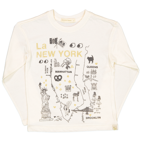 Atsuyo et Akiko La New York Lara Long Sleeve T-shirt - Cream