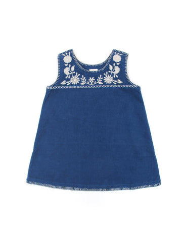 Apolina Kids Ali Pinafore - Icelandic Blue/ Alabaster