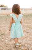 PAUSH Pinafore - Mint Swiss Dot