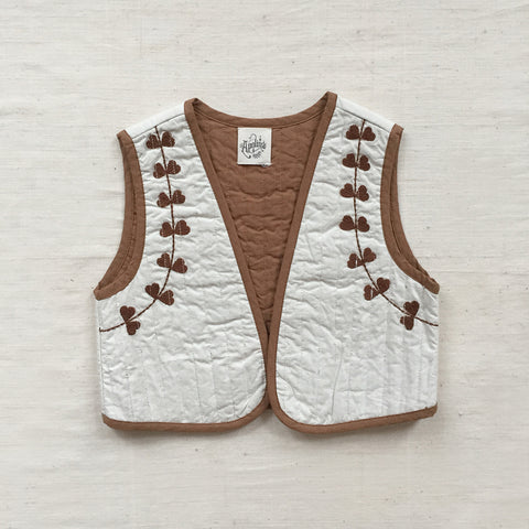 Apolina Kids Bo Quilted Gilet - Salt