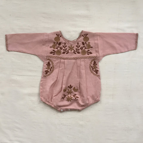 Apolina Kids Jane Romper - Buckwheat Pink