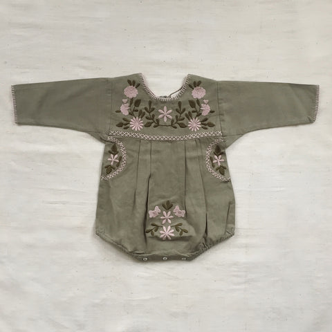 Apolina Kids Jane Romper - Sage