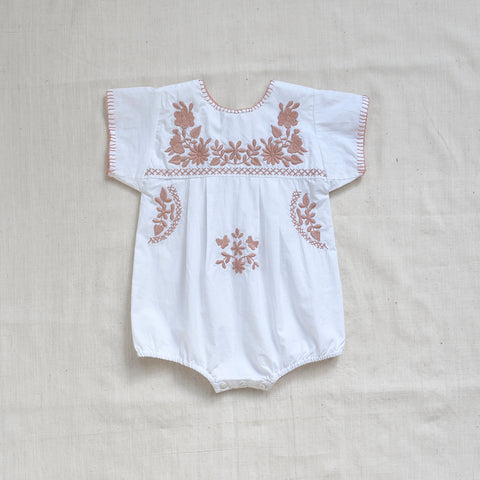 Apolina Kids Jane Romper - Pure White