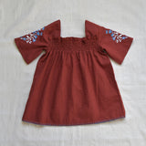 Apolina Kids Mia Smock Dress - Burnt Sienna