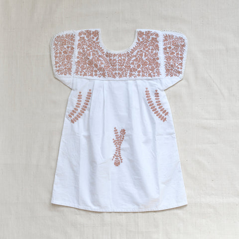 Apolina Kids Stevie Dress - Pure White