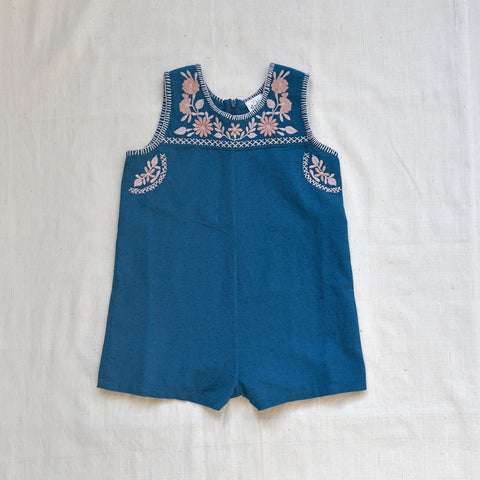 Apolina Kids Suzi Romper - Prussian Blue