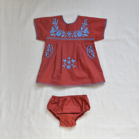 Apolina Kids Tina Tunic Set - Burnt Sienna