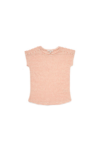 CARAMEL Avocado T-shirt - Bright Orange Stripe