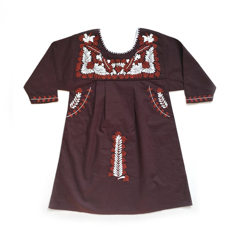 Apolina Kids Pattie Dress - Bitter Chocolate