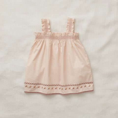 Apolina Kids Adeine Sundress Set  - Peach