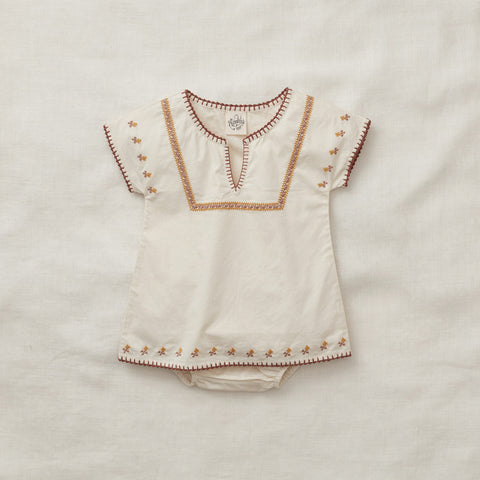 Apolina Kids Rose Tunic Set  - Milk