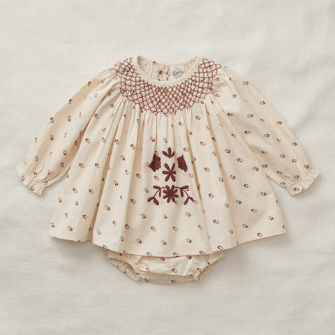 Apolina Kids Sissy Dress Set - Prairie Print Milk